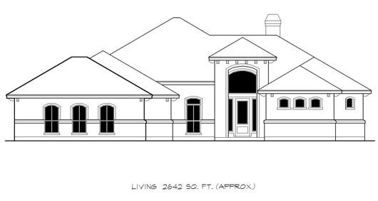 Mediterranean House Plan 74546 with 3 Beds, 3 Baths, 2 Car Garage Elevation