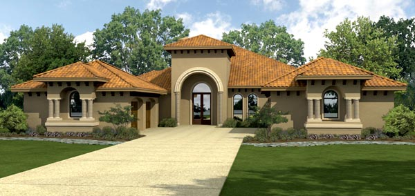 Mediterranean House Plan 74547 Elevation