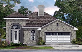 House Plan 74549 | Mediterranean, Traditional Style House Plan with 2332 Sq Ft, 4 Bed, 4 Bath, 2 Car Garage Elevation