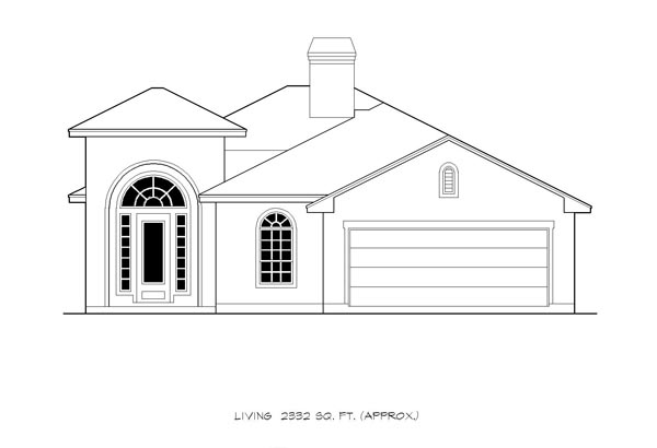Mediterranean, Traditional House Plan 74549 with 4 Beds, 4 Baths, 2 Car Garage Picture 2