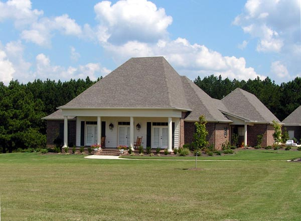 European House Plan 74624 with 3 Beds, 3 Baths, 3 Car Garage Front Elevation