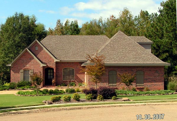 European House Plan 74626 with 3 Beds, 2 Baths, 2 Car Garage Elevation