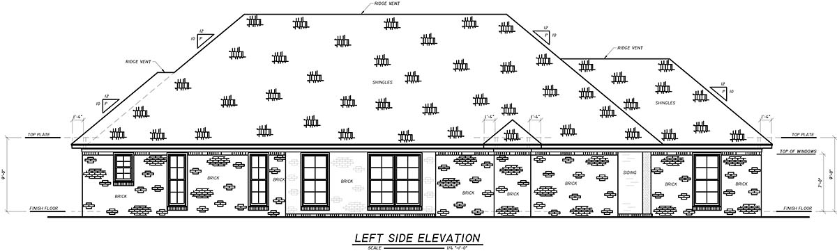 European, French Country House Plan 74634 with 3 Beds, 2 Baths, 2 Car Garage Picture 2