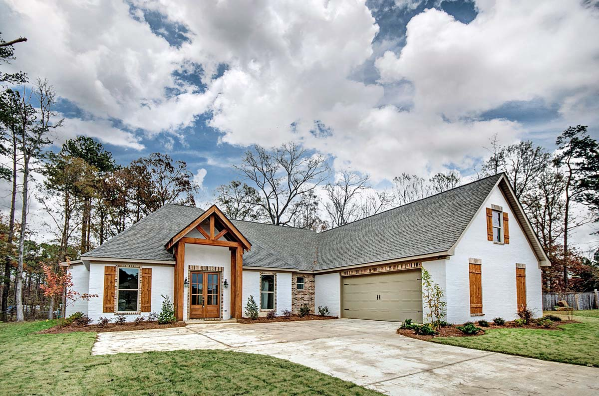 French Country, Traditional House Plan 74638 with 3 Beds, 2 Baths, 2 Car Garage Elevation