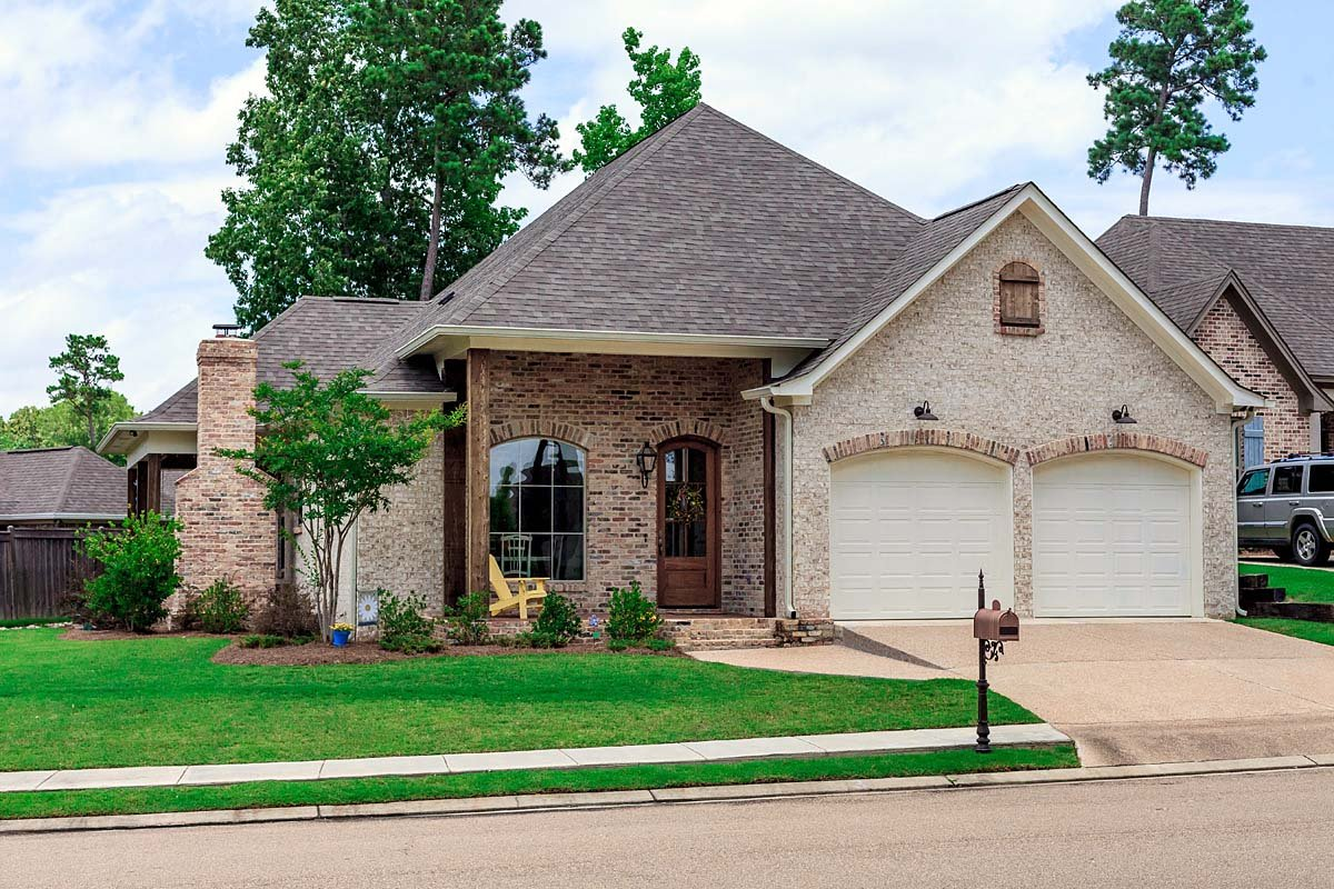 European, French Country, Traditional House Plan 74639 with 3 Beds, 2 Baths, 2 Car Garage Elevation