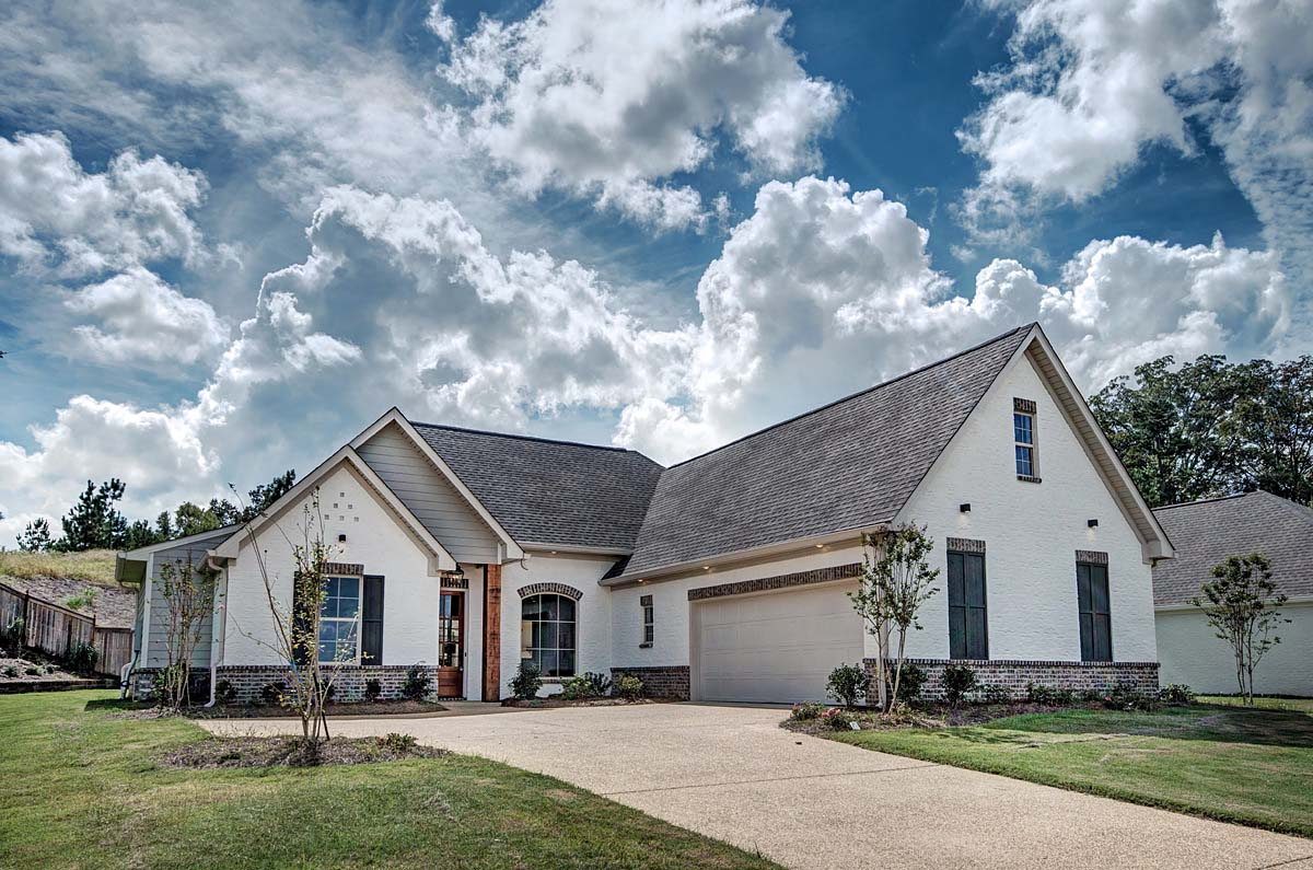 French Country, Traditional House Plan 74643 with 3 Beds, 4 Baths, 2 Car Garage Elevation