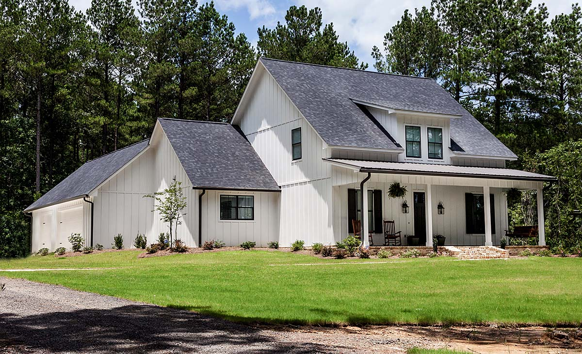 Farmhouse, Southern, Traditional House Plan 74644 with 3 Beds, 4 Baths, 3 Car Garage Elevation