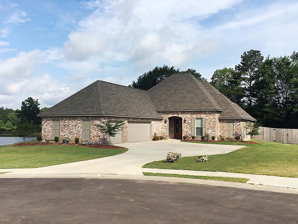 Country, French Country House Plan 74645 with 4 Beds, 3 Baths, 3 Car Garage Front Elevation