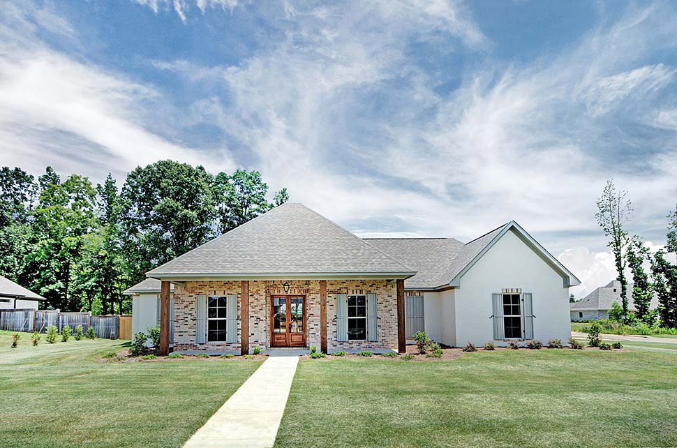 Country, Southern, Traditional House Plan 74649 with 4 Beds , 3 Baths , 2 Car Garage Elevation