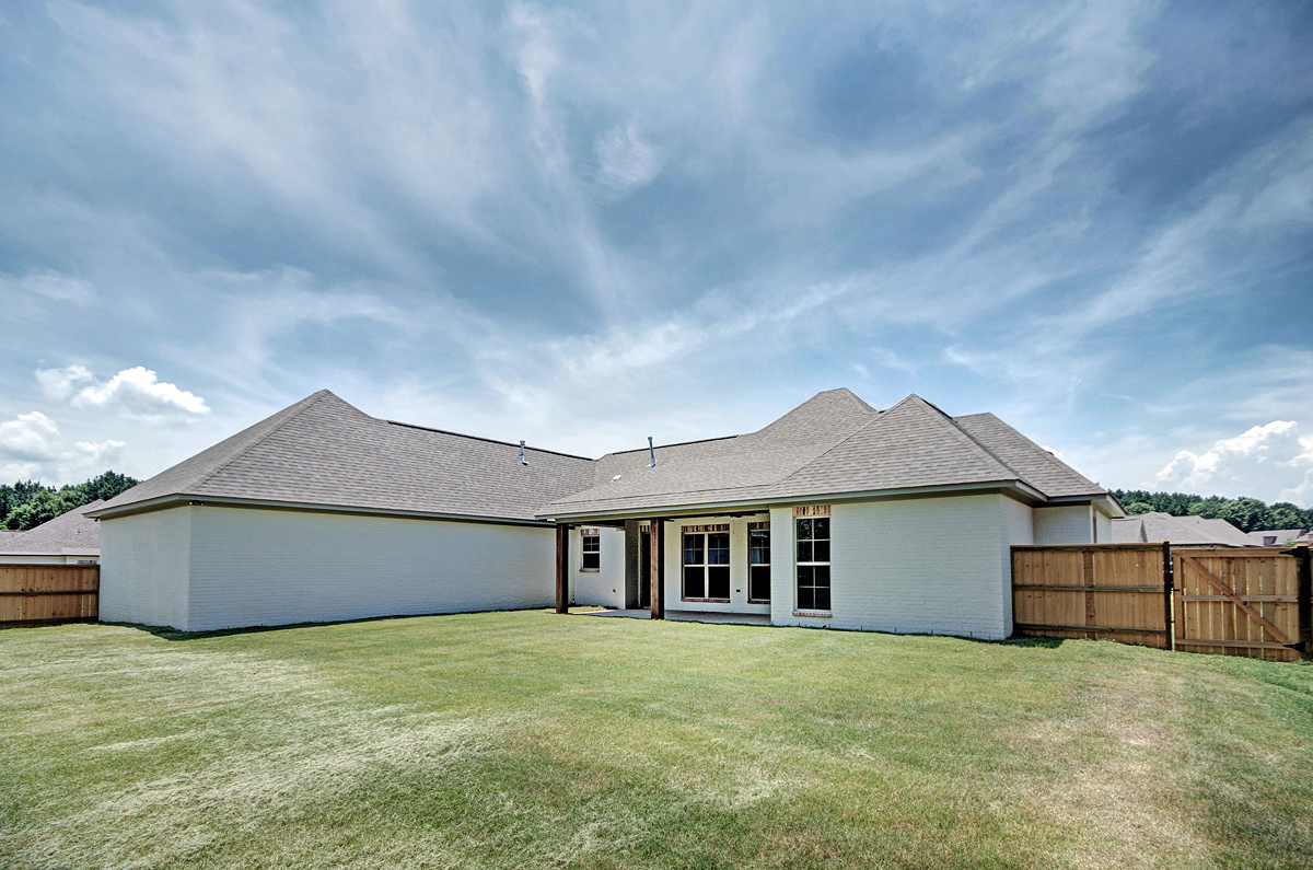 Country, Southern, Traditional House Plan 74649 with 4 Beds , 3 Baths , 2 Car Garage Rear Elevation