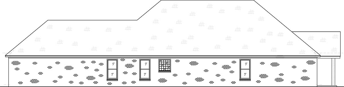 Craftsman, Traditional House Plan 74655 with 4 Beds, 3 Baths, 2 Car Garage Picture 2