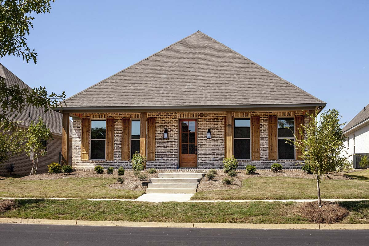 Craftsman, Traditional House Plan 74656 with 4 Beds, 3 Baths, 2 Car Garage Elevation