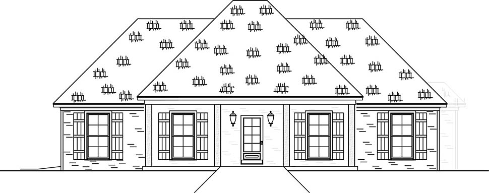 Country, Farmhouse, Traditional House Plan 74659 with 3 Beds, 2 Baths, 2 Car Garage Picture 3
