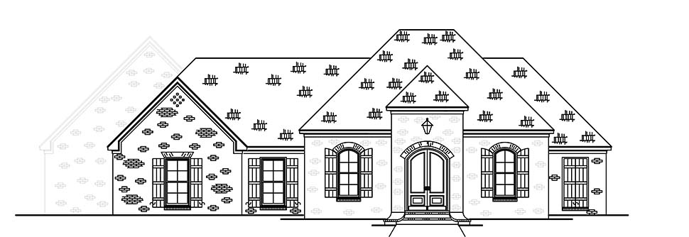 French Country, Traditional House Plan 74660 with 3 Beds, 2 Baths, 2 Car Garage Picture 3