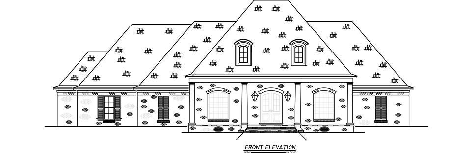 French Country, Traditional House Plan 74663 with 3 Beds, 4 Baths, 3 Car Garage Picture 3