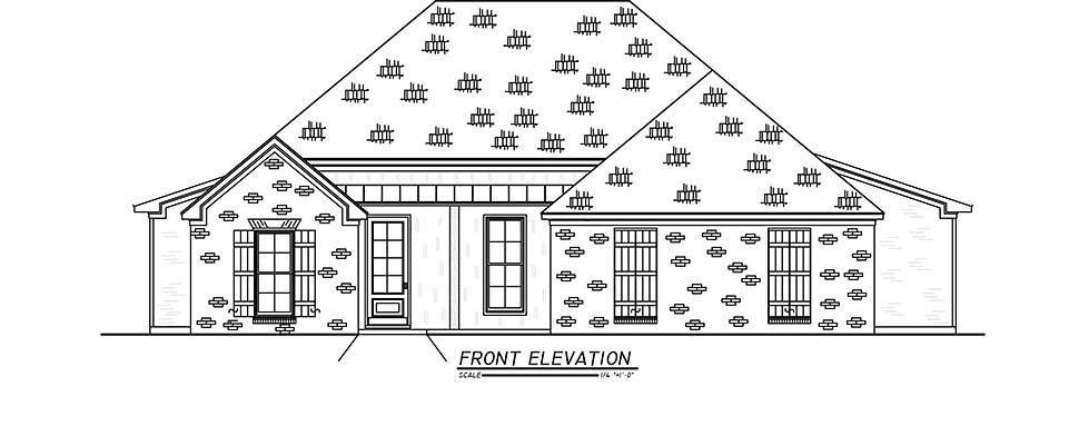 French Country, Traditional House Plan 74664 with 3 Beds, 2 Baths, 2 Car Garage Picture 3