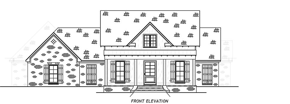 Country, Farmhouse, Traditional House Plan 74666 with 4 Beds, 3 Baths, 3 Car Garage Picture 3