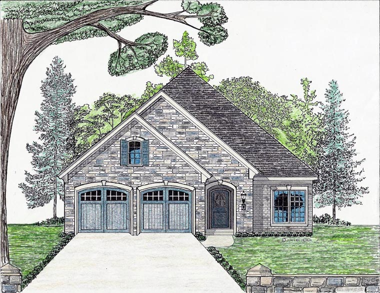 Cottage Country European House Plan 74709 Elevation