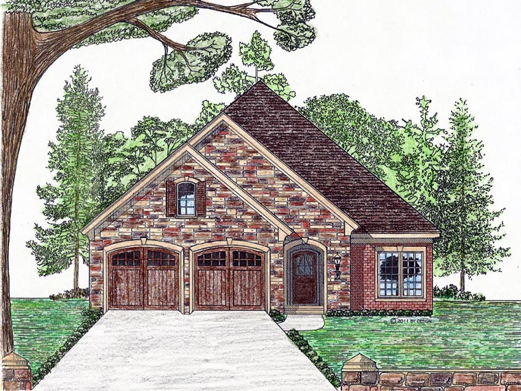 Cottage Country European House Plan 74710 Elevation