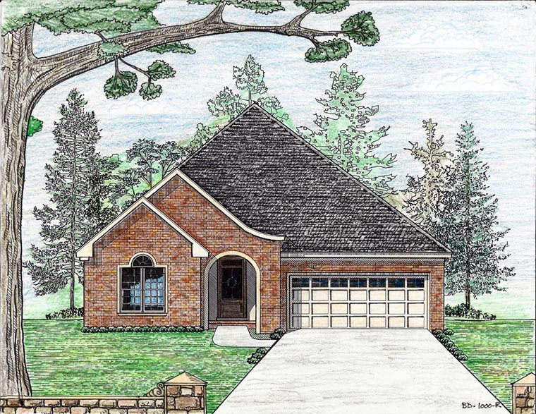 Cottage Country European House Plan 74711 Elevation