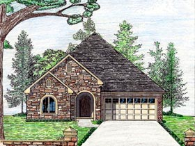 Cottage Country European House Plan 74712 Elevation