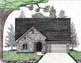 Cottage Country European House Plan 74713 Elevation