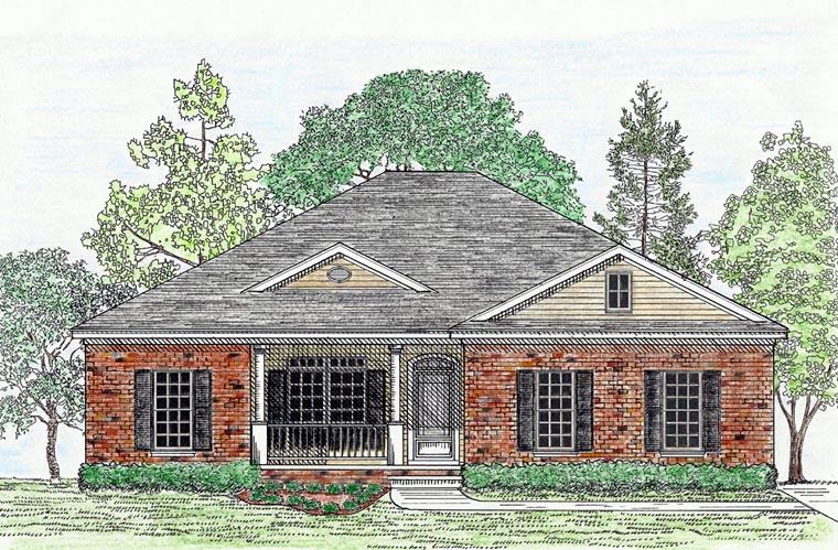 Cottage Country Southern Victorian House Plan 74716 Elevation