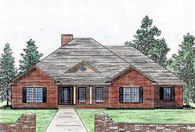 House Plan 74722 | Cottage Country Craftsman Ranch Southern Style Plan with 2200 Sq Ft, 3 Bedrooms, 2 Bathrooms, 2 Car Garage Elevation