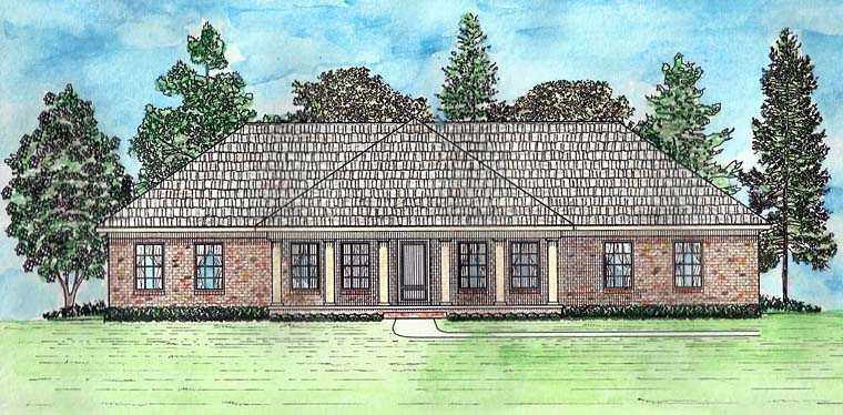 Country, Craftsman, Ranch, Traditional House Plan 74726 with 3 Beds, 2 Baths, 2 Car Garage Elevation