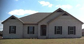 Traditional House Plan 74761 with 4 Beds, 2 Baths, 2 Car Garage Elevation