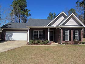 Colonial , Cottage , Southern House Plan 74767 with 3 Beds, 2 Baths, 2 Car Garage Elevation