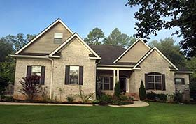 Country , Craftsman , European , Southern , Traditional House Plan 74768 with 3 Beds, 3 Baths, 2 Car Garage Elevation