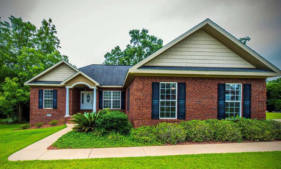 Country , Craftsman , Southern House Plan 74769 with 3 Beds, 2 Baths, 2 Car Garage Elevation