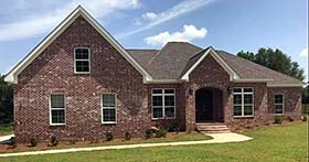 Cottage , Country , European , Southern House Plan 74772 with 4 Beds, 5 Baths, 2 Car Garage Elevation