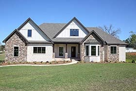 Bungalow , Cottage , Country , Craftsman , Farmhouse , Southern House Plan 74774 with 3 Beds, 4 Baths, 2 Car Garage Elevation