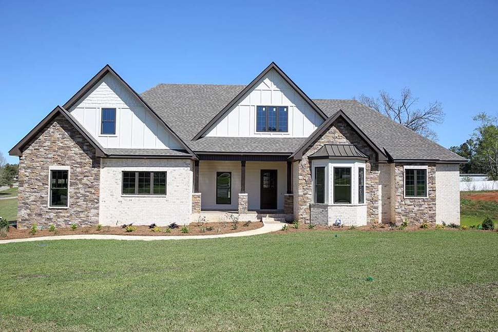 Bungalow Cottage Country Craftsman Farmhouse Southern Elevation of Plan 74774