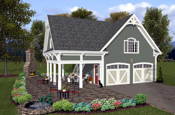 Garage Plan 74800 Elevation