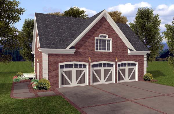 Garage Plan 74801 Elevation