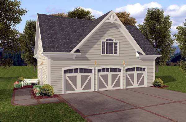 Garage Plan 74802 Elevation