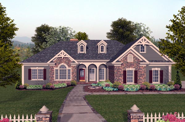 Craftsman House Plan 74804 Elevation