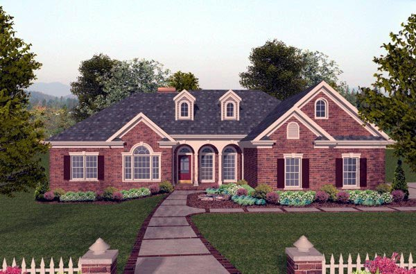 Traditional House Plan 74806 Elevation