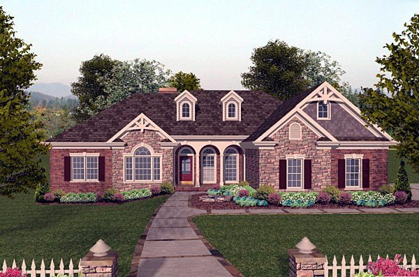 Craftsman European House Plan 74807 Elevation