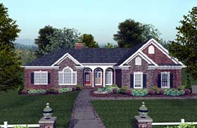 House Plan 74808 | Craftsman Style Plan with 1992 Sq Ft, 3 Bedrooms, 3 Bathrooms, 3 Car Garage Elevation