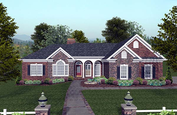 Craftsman House Plan 74808 Elevation