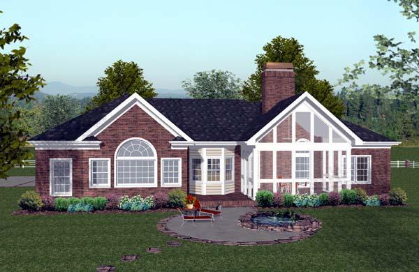 Craftsman House Plan 74808 Rear Elevation