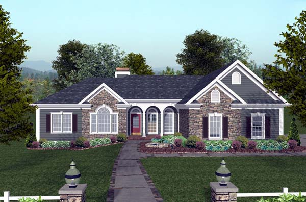 Craftsman House Plan 74809 Elevation