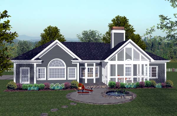 Craftsman House Plan 74809 Rear Elevation