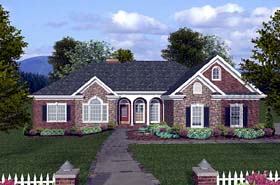 Craftsman , Ranch House Plan 74810 with 4 Beds, 4 Baths, 3 Car Garage Elevation