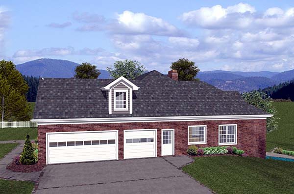 Craftsman, Ranch House Plan 74810 with 4 Beds, 4 Baths, 3 Car Garage Picture 1
