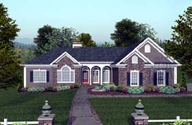 Craftsman Ranch House Plan 74811 Elevation